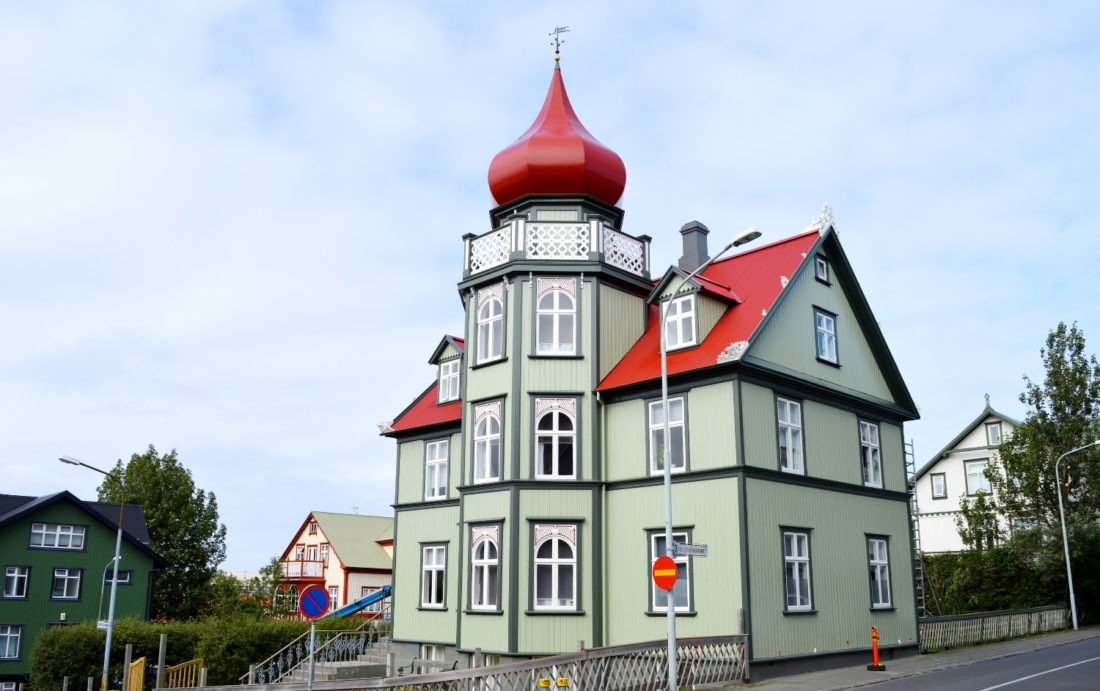 Reykjavik Gay Travel Green house with red roof   Gay Couple Travel City Weekend Reykjavik Iceland © Coupleofmen.com