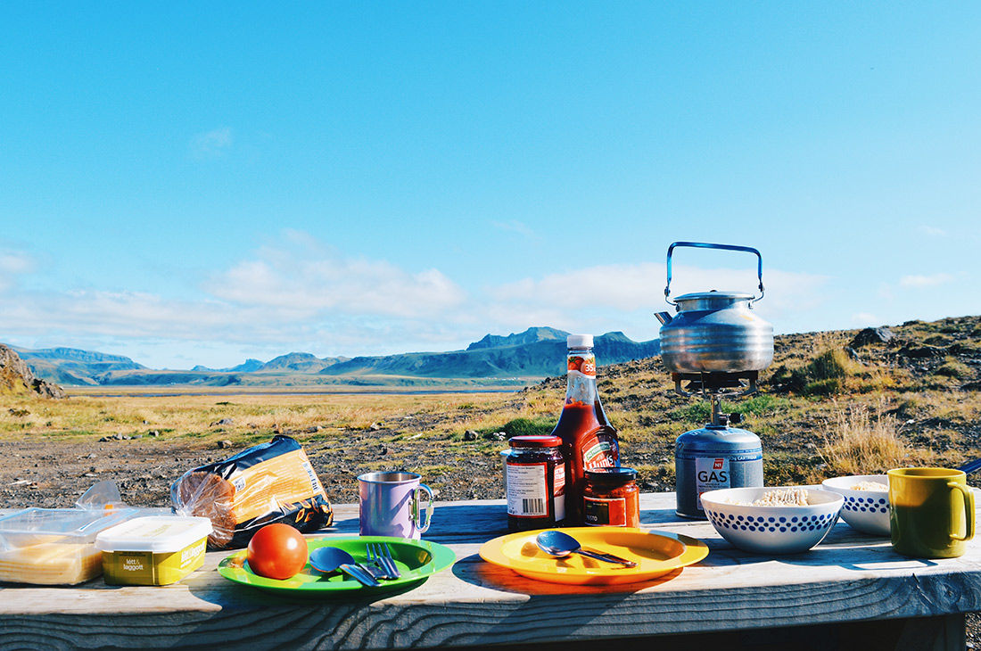 Breakfast with an Icelandic view | Road Trip Adventure Iceland Gay Couple Insider Tips © CoupleofMen.com