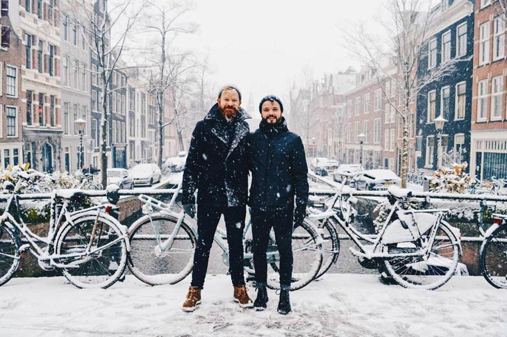 Amsterdam in Winter: A Snowy Day in Holland