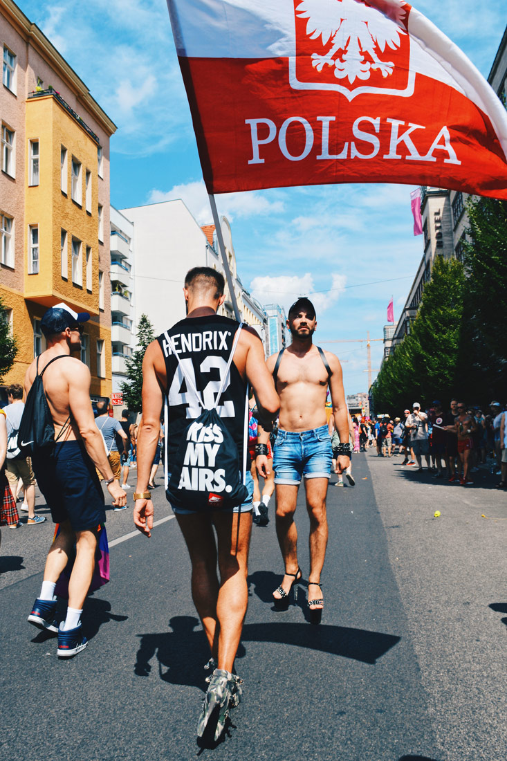 Polish LGBTQ+ supporting the local community in Berlin demonstrating for equal rights on high heels | CSD Berlin Gay Pride 2018 © Coupleofmen.com